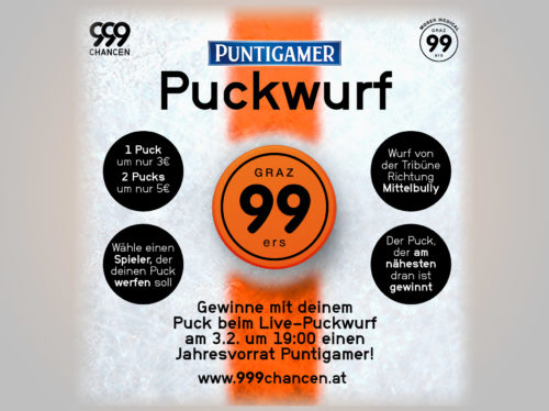Puckwurf - Moser Medical Graz99ers